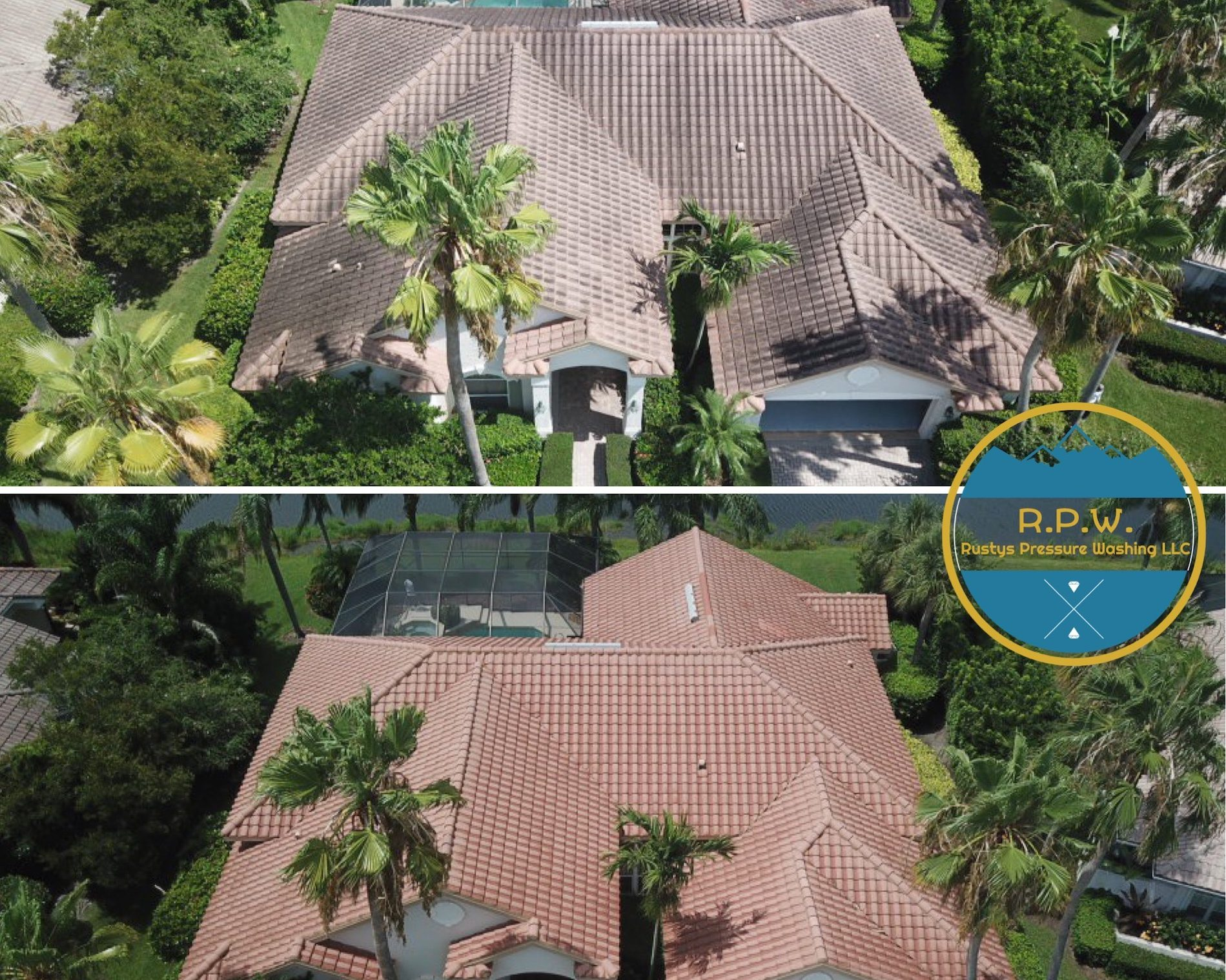 Aerial view house